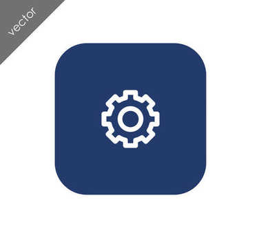 Cogwheel icon  illustration
