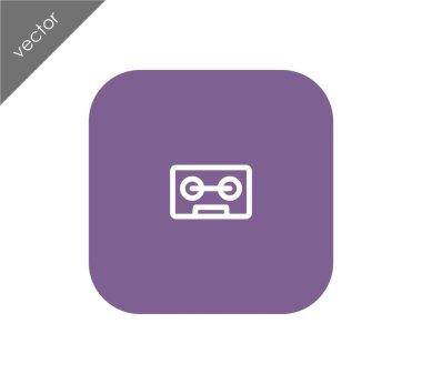 Cassette flat icon