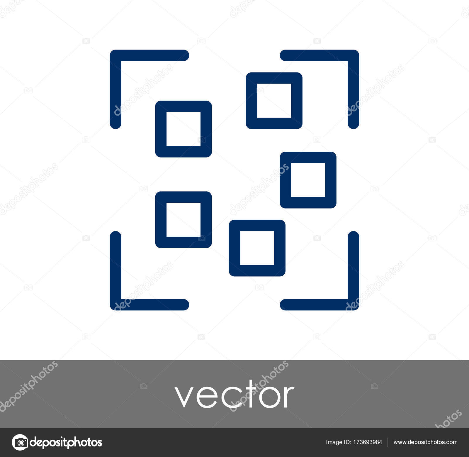 Camera focus icon stock vector signsandsymbols email for Camera email