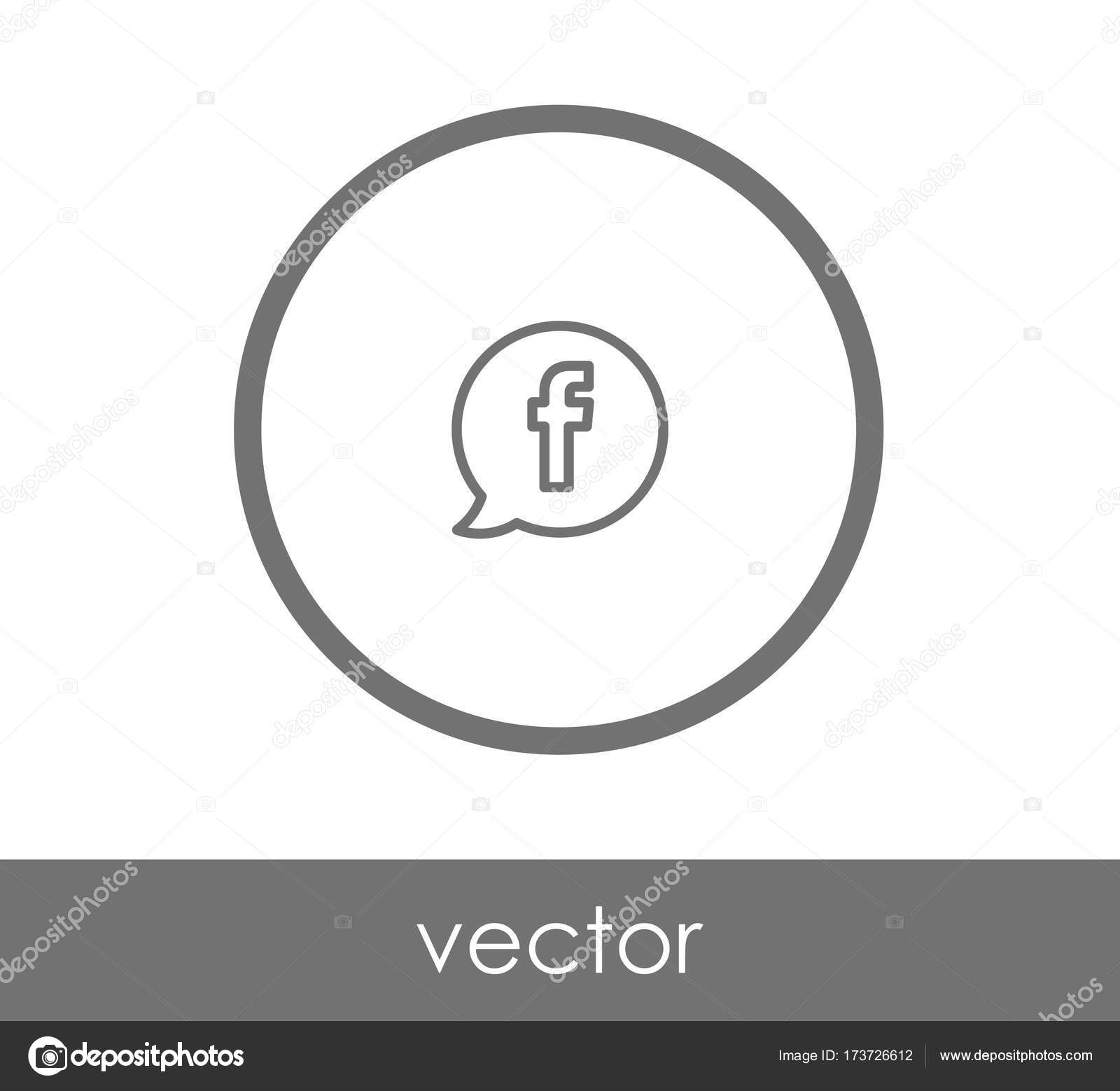 facebook logo icon — Stock Vector © signsandsymbols@email com #173726612