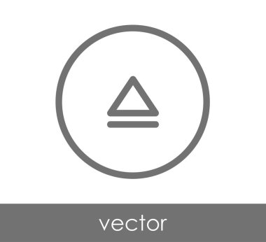 Eject flat icon