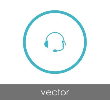 Headphones simple icon