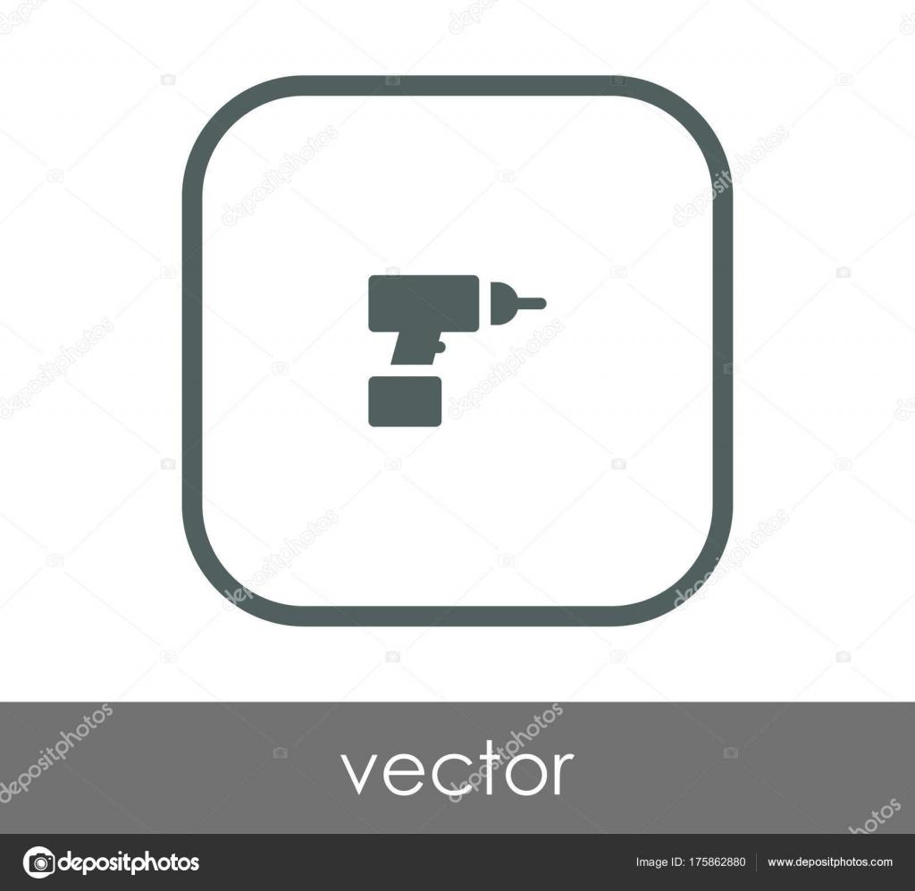 Vektor Illustration Design Von Elektrischen Bohrer Symbol ...