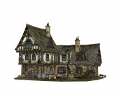 detaillierte Rekonstruktion einer mittelalterlichen Taverne