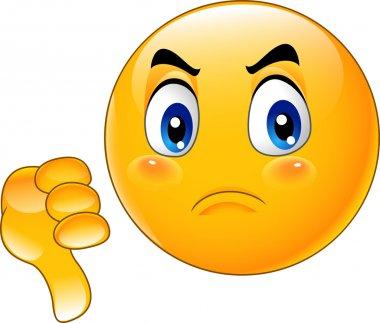 Cartoon dislike emoticon