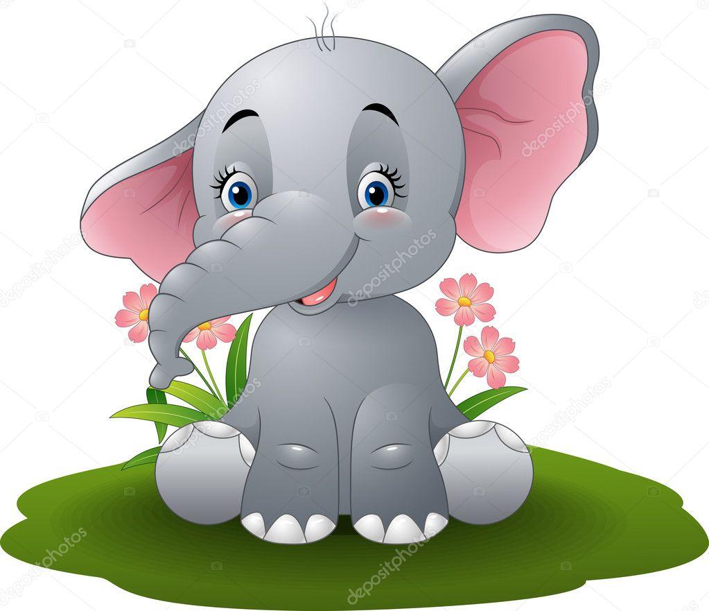 Dibujos animados beb elefante vector de stock - Fotos de elefantes bebes ...