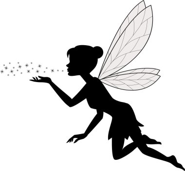 Vector illustration of Cute fairy flying stock vector