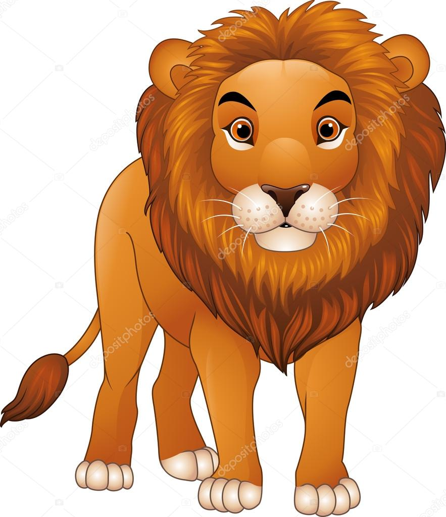cartoon lion character u2014 stock vector dreamcreation01 126349040