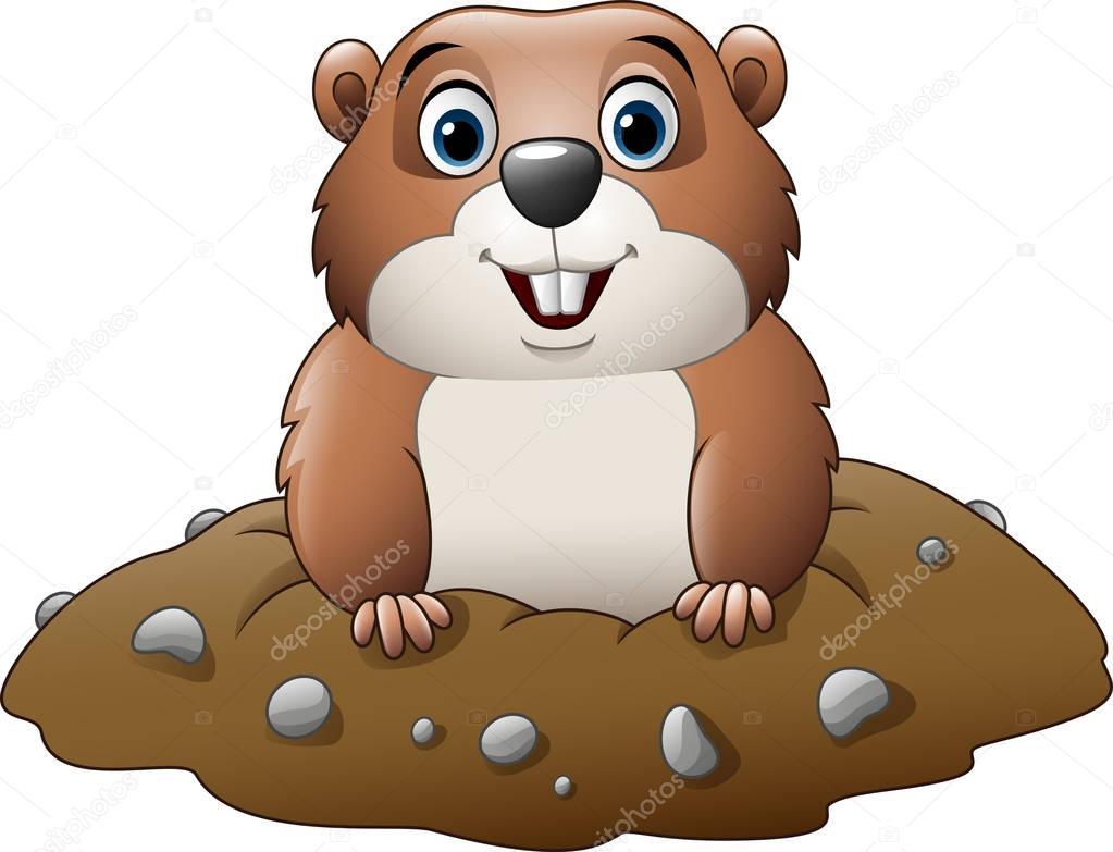 marmota divertido dibujos animados archivo im u00e1genes woodchuck clipart free Wood Chuck