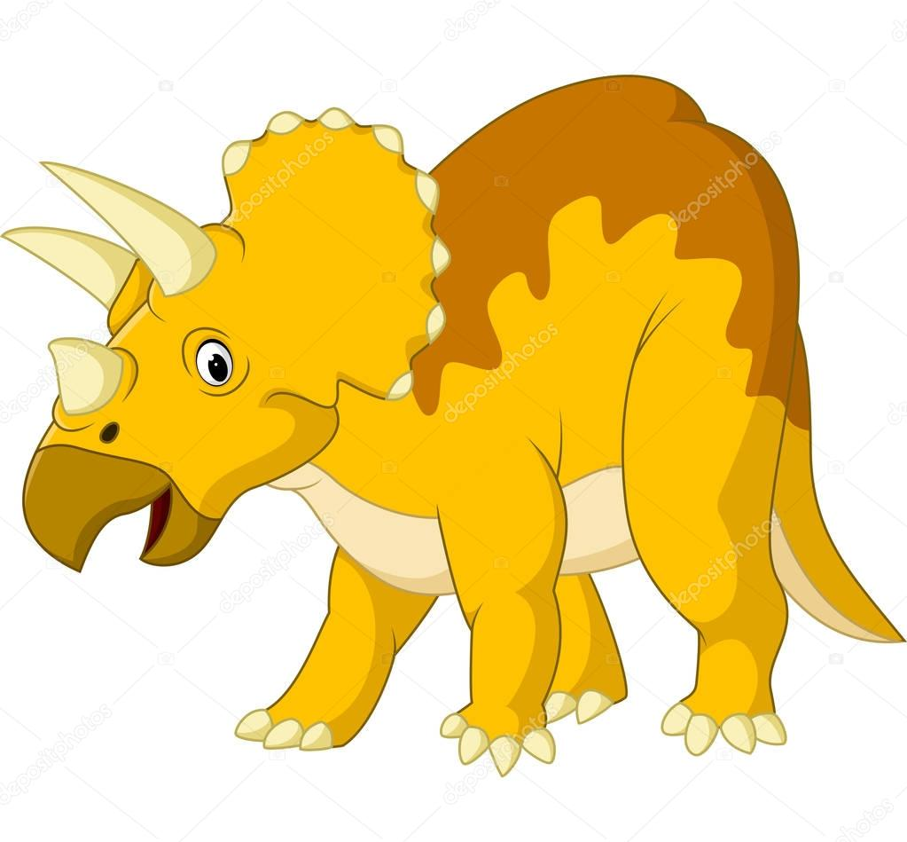 cute cartoon triceratops � stock vector 169 dreamcreation01