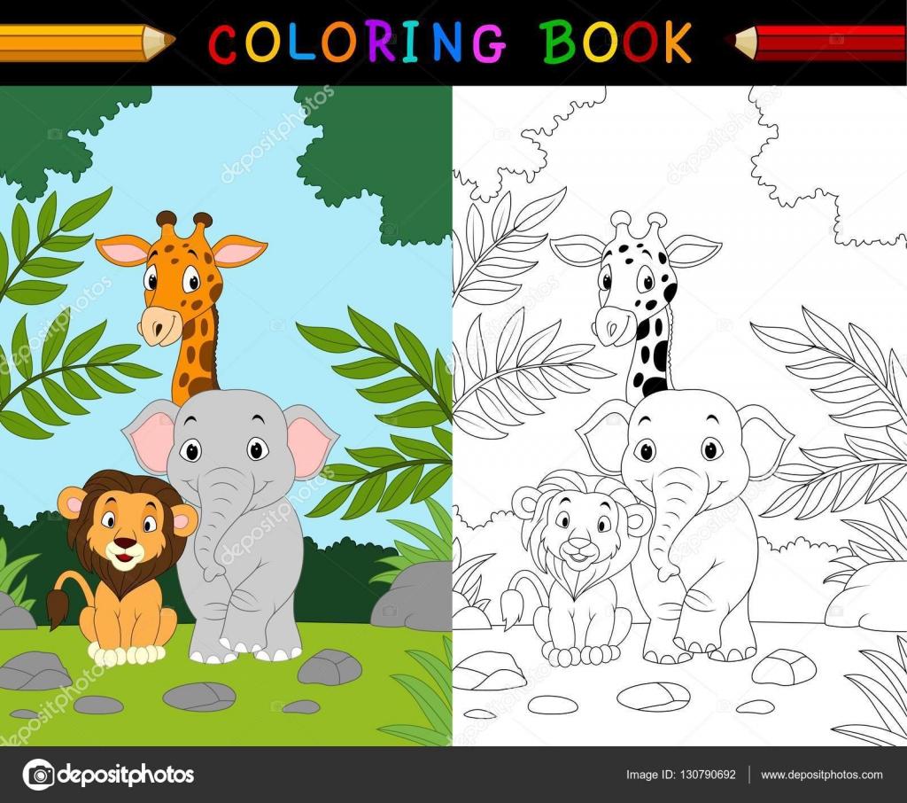 Cartoon safari animal coloring book — Stock Vector © dreamcreation01 ...