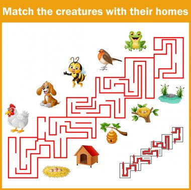 Match creatures with their homes