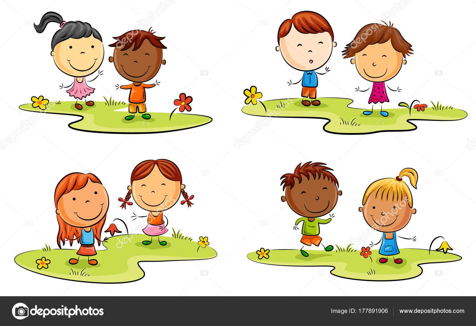 Imagenes De Niños Jugando En Caricatura