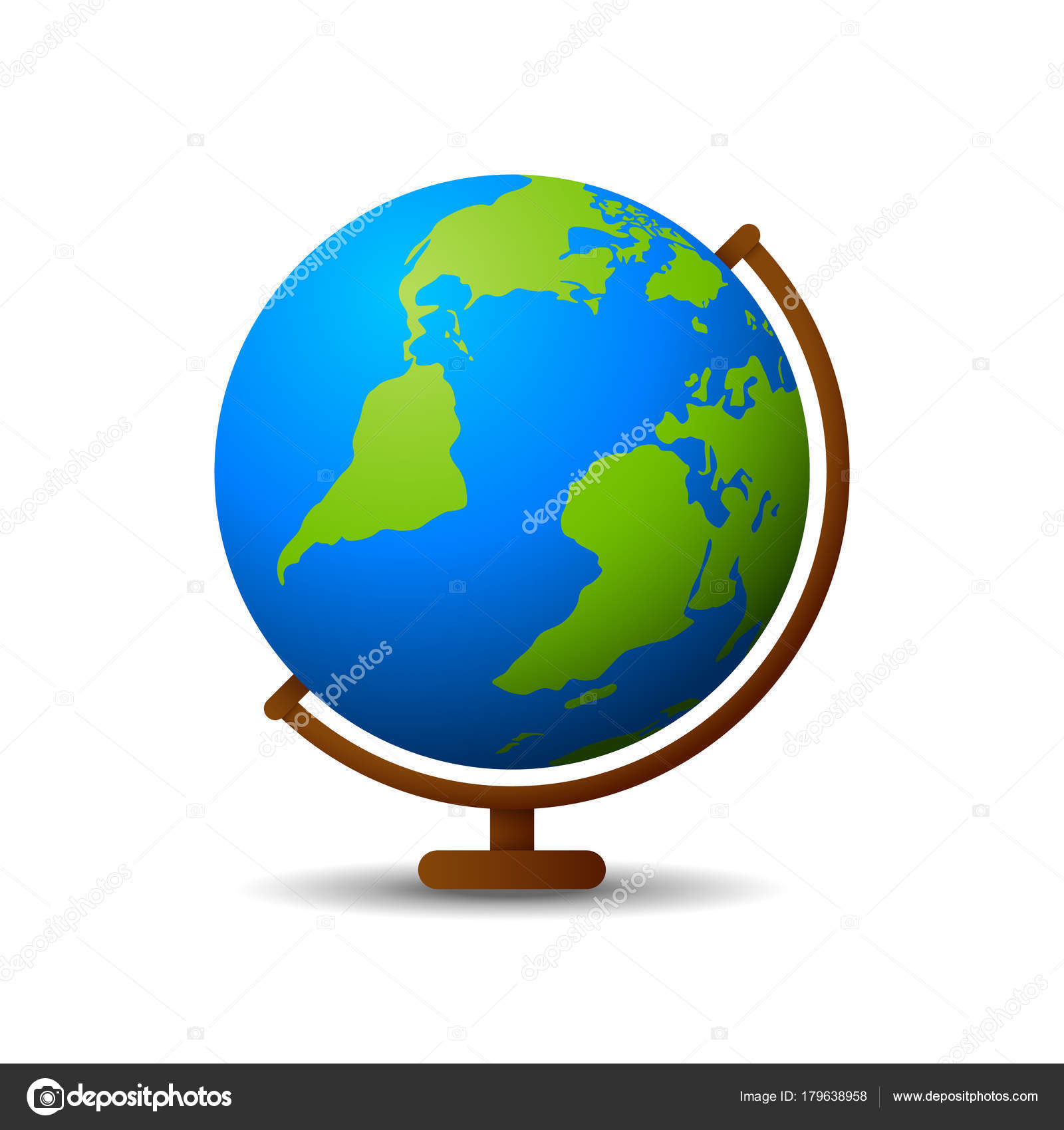 Earth Globe Icon White Background — Stock Vector