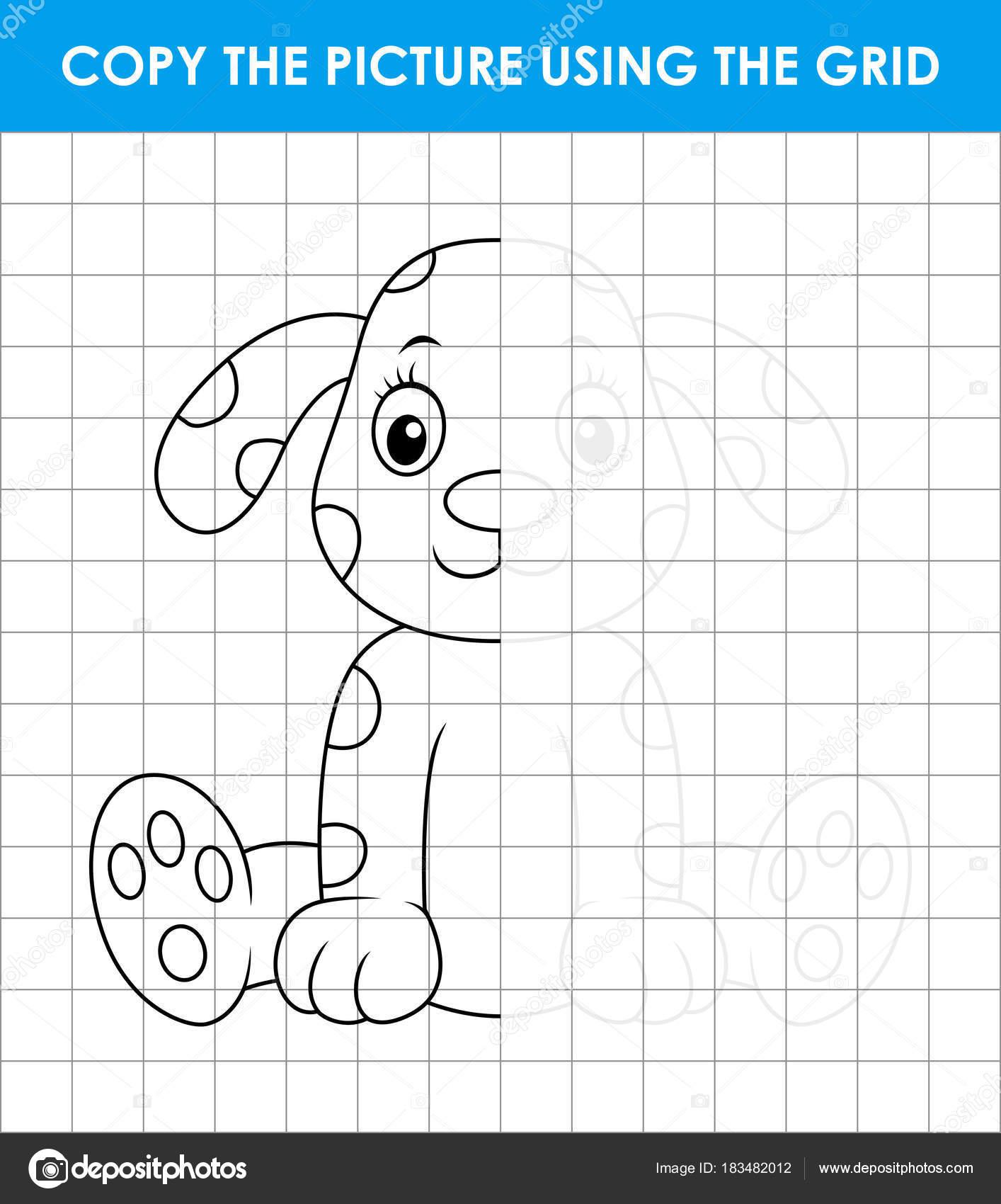 Imágenes Objetos En Forma De Cuadrado Para Colorear Perro Dálmata