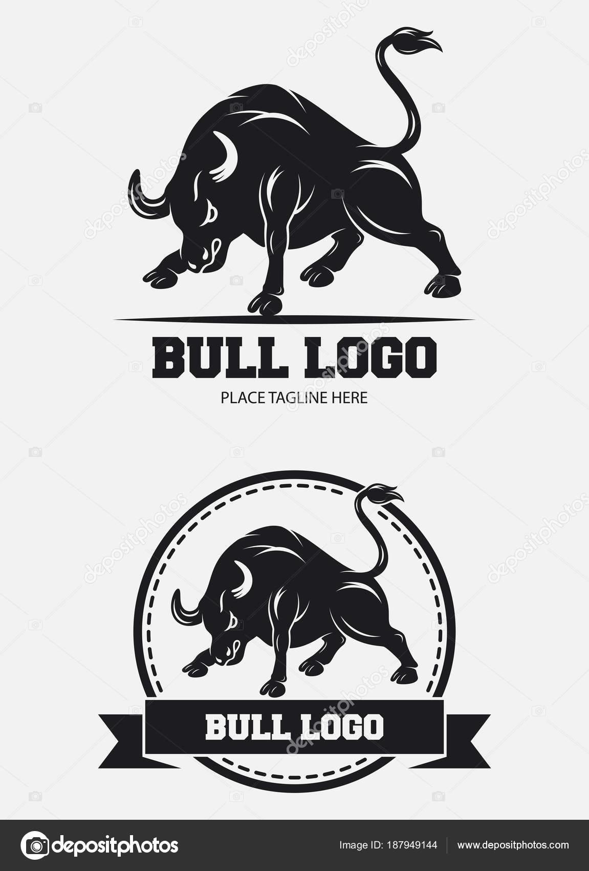 Plantilla Diseño Icono Toro — Archivo Imágenes Vectoriales ...