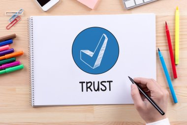 Trust text on paper