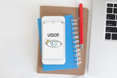 VISION text on screen
