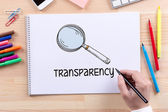 TRANSPARENCY text on paper