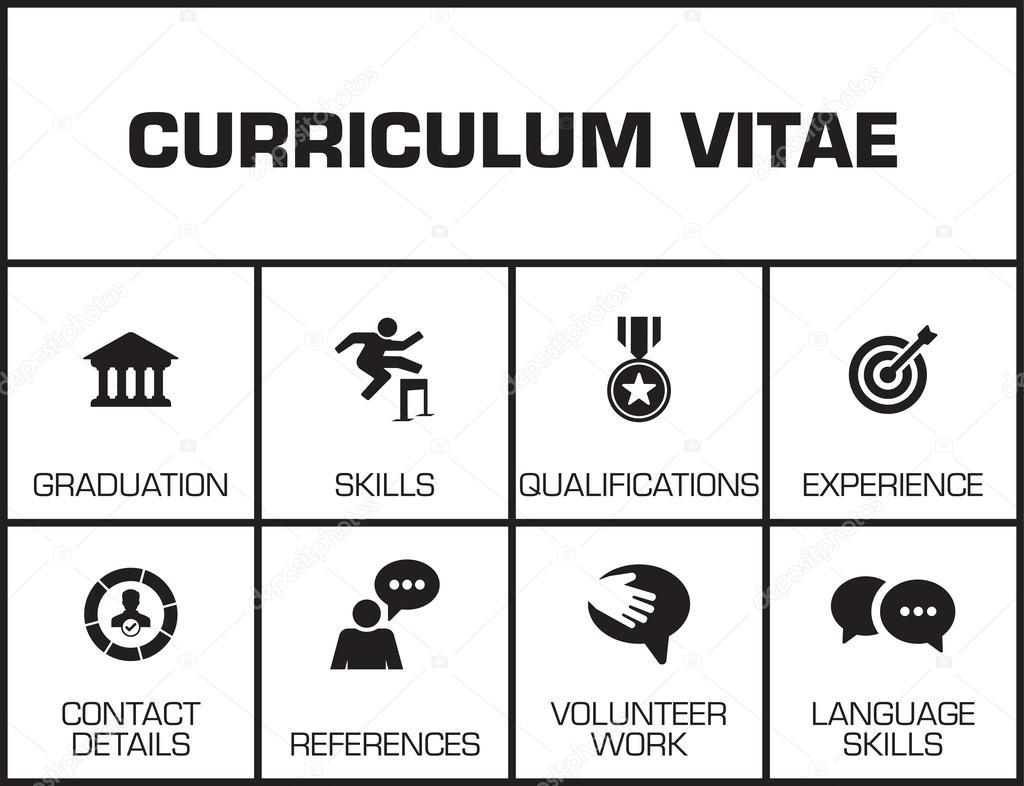 curriculum vitae chart stock vector garagestock 128429424