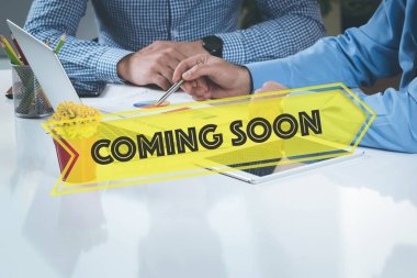Coming Soon stylish lettering