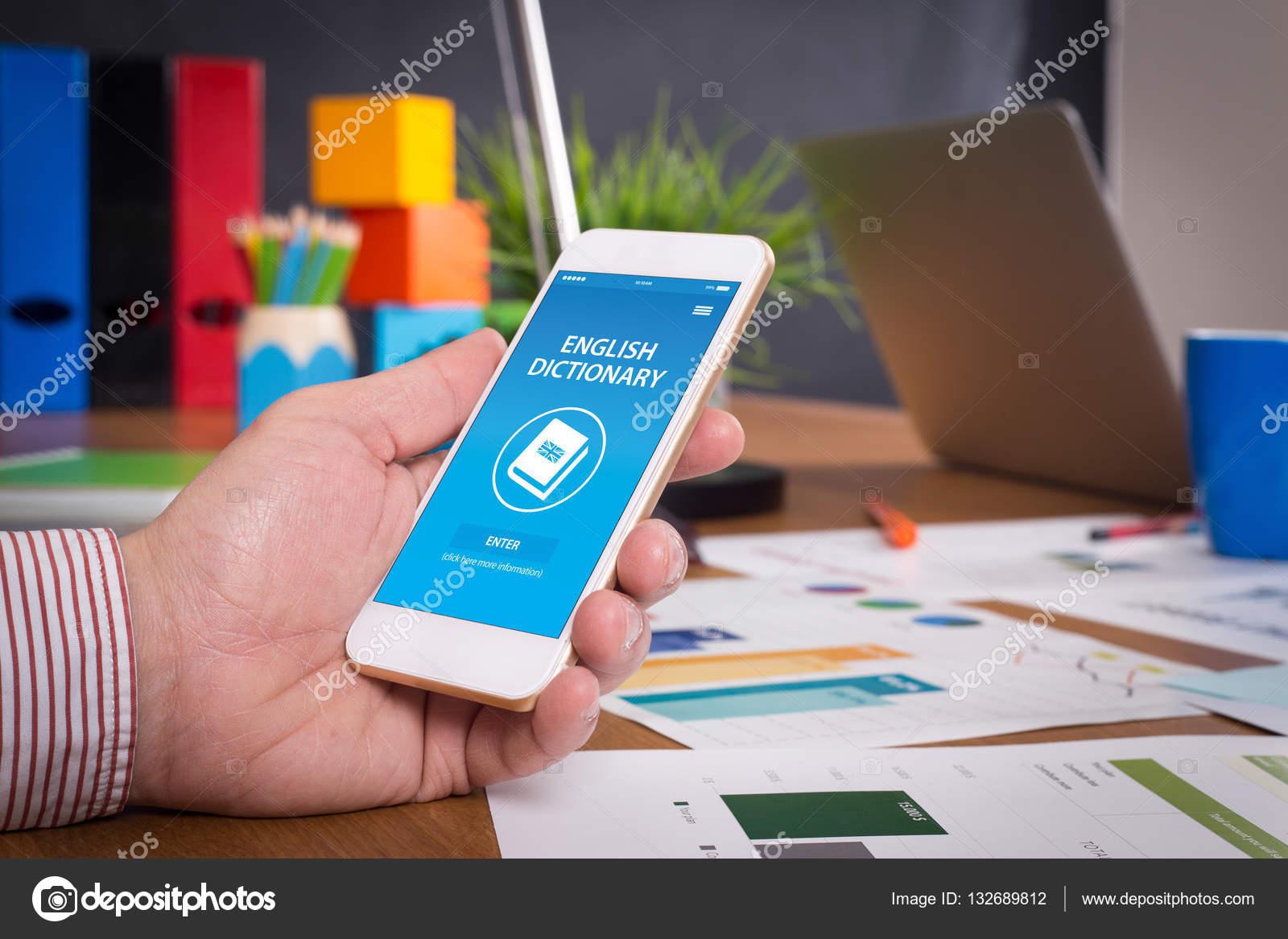 English Dictionary App — Stock Photo © garagestock #132689812