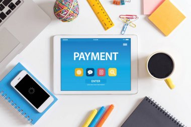 PAYMENT CONCEPT ON TABLET PC
