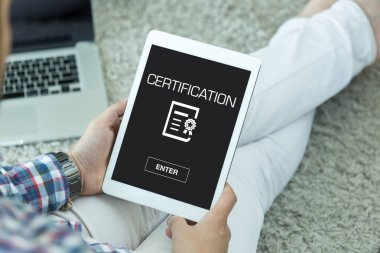 CERTIFICATION CONCEPT  on screen