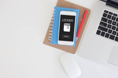 LEDGER CONCEPT on screen