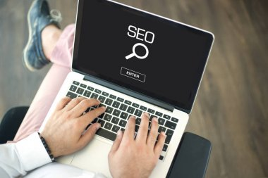 SEO CONCEPT  on screen