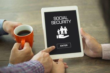 SOCIAL SECURITY CONCEPT on screen