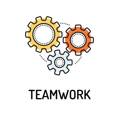 TEAMWORK Line icon