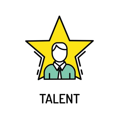 Talent Line Icon, vector illustration stock vector