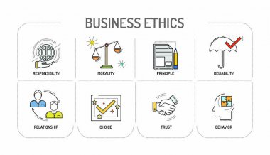 BUSINESS ETHICS Line icon