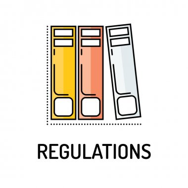 REGUALTIONS Line icon