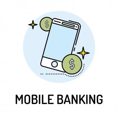 MOBILE BANKING Line icon