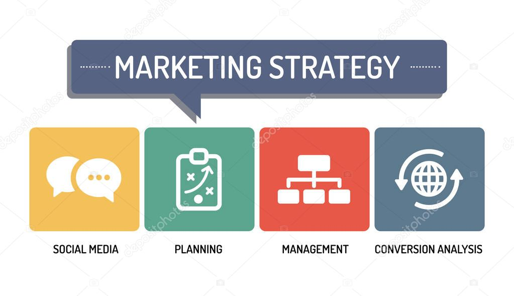 MARKETING STRATEGY - ICON SET