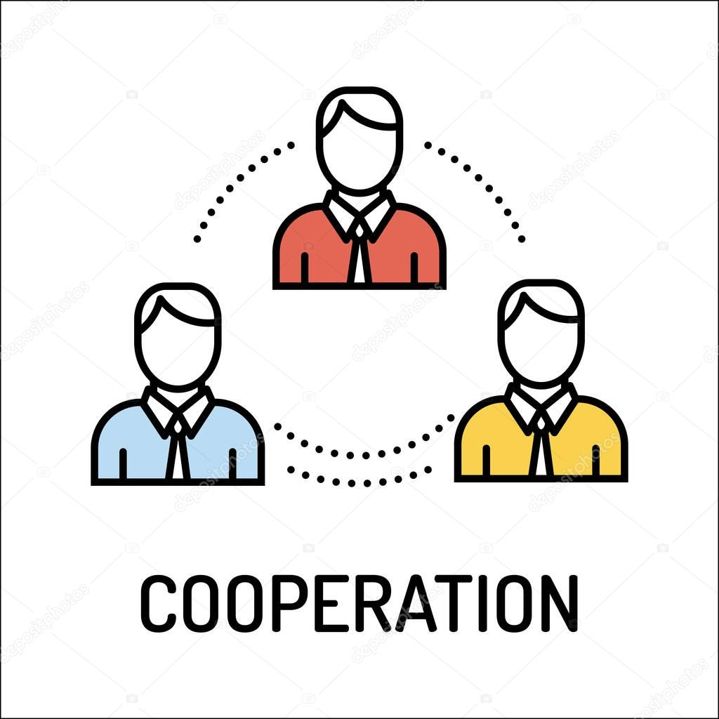 Cooperation Line Icon