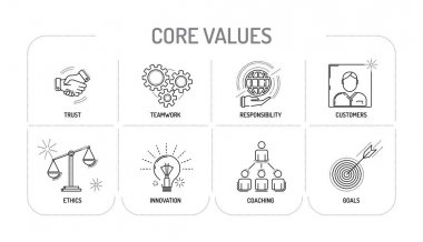 CORE VALUES - Line icon