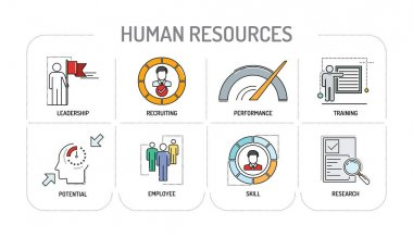 HUMAN RESOURCES - Line icons