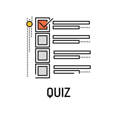 QUIZ Line icon