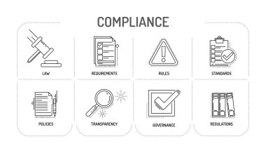 COMPLIANCE - Line icon Concept