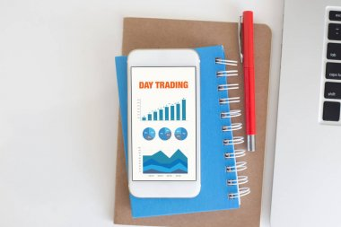 screen with DAY TRADING Title