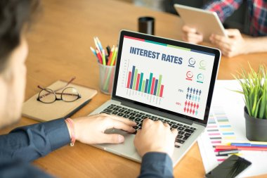 screen with INTEREST RATES Title