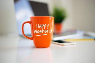 Happy Weekend Coffee Cup