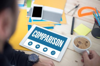 COMPARISON TEXT ON SCREEN