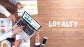 Loyalitätskonzept, professionelles Team bei der Arbeit