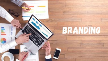 BRANDING concept, professionals team at work