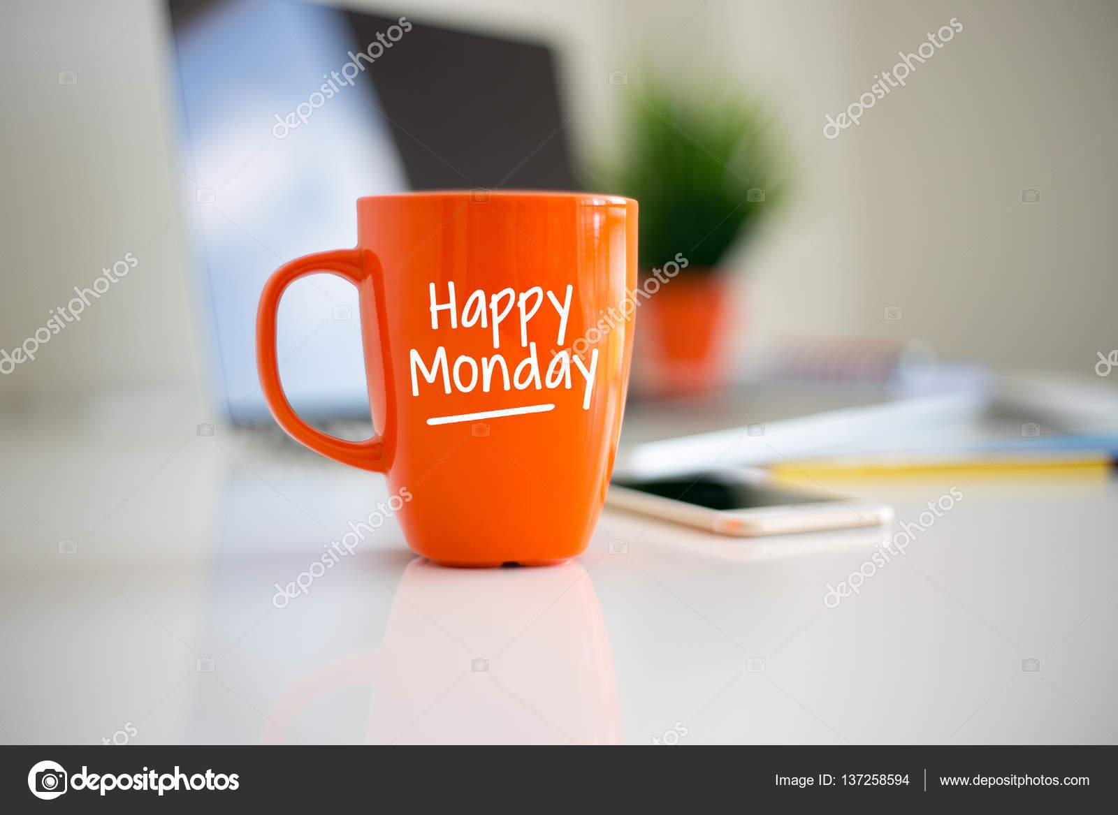 Happy Monday Coffee Cup Stock Photo C Garagestock 137258594