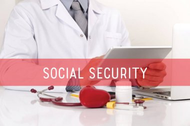 SOCIAL SECURITY HEALTHCARE CONCEPT